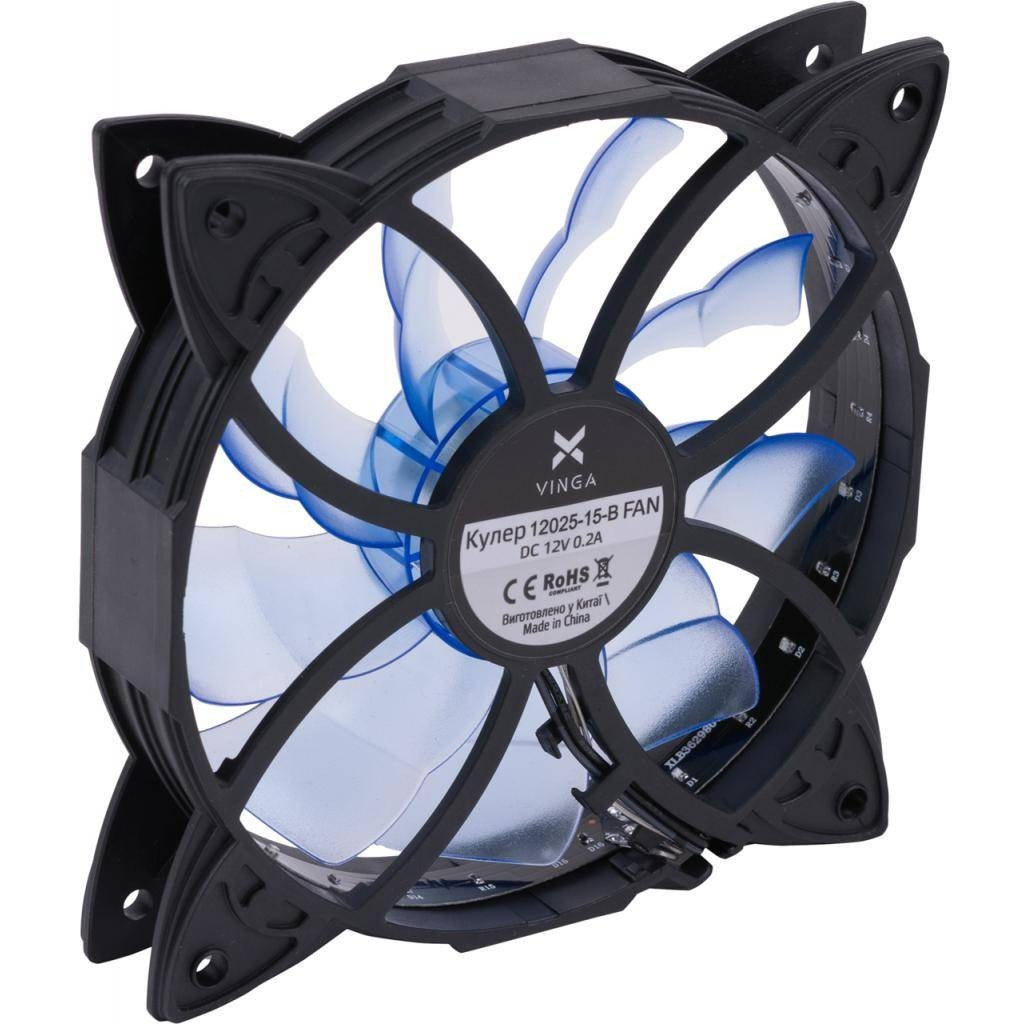 Вентилятор для корпуса Vinga 12025-15-B фото