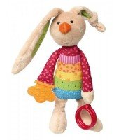 М`яка іграшка sigikid Кролик з брязкальцем 26 см (41419SK)