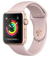 Смарт-часы Apple Watch Series 3 GPS 42mm Gold Aluminium Case with Pink Sand Sport Band (MQL22GK/A)