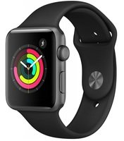 Смарт-часы Apple Watch Series 3 GPS 42mm Space Grey Aluminium Case with Black Sport Band (MQL12GK/A)