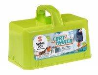 Игровой набор Same Toy 2 в 1 для лепки из снега и песка зеленый (618Ut-1)