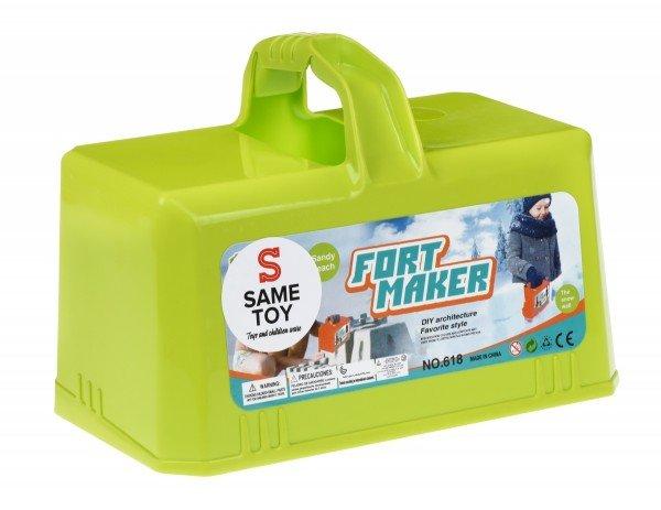 Купить Игровой набор Same Toy 2 в 1 для лепки из снега и песка зеленый (618Ut-1)