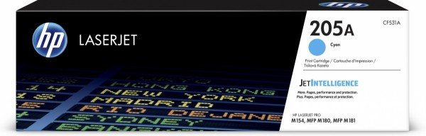 Купить Картридж лазерный HP 205A CLJ M180/M181 Cyan, 900 стр (CF531A)
