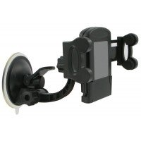 Автодержатель Kit для смартфонов Universal, Black, bulk
