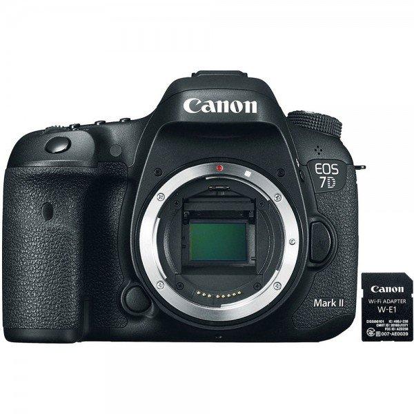 Купить Фотоаппарат CANON EOS 7D Mark II Body + WiFi адаптер W-E1 (9128B038)