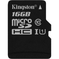 Карта памяти Kingston microSDHC 16GB Class 10 UHS-I R80MB/s