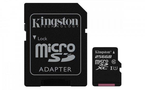Купить Карта памяти Kingston microSDXC 256GB Class 10 UHS-I R80MB/s + SD-адаптер
