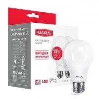 Набор светодиодных ламп MAXUS A70 15W яркий свет E27 (по 2 шт.) (2-LED-568-01)
