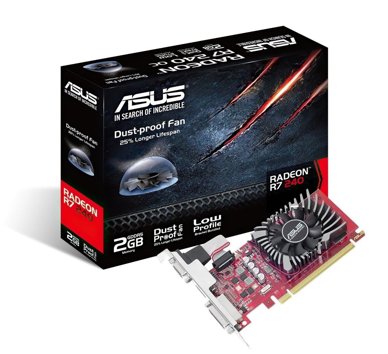 Відеокарта ASUS Radeon R7 240 2GB DDR5 low profile (R7240-2GD5-L) фото1
