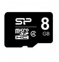 Карта памяти Silicon Power microSDHC 8GB Сlass 4 + SD-адаптер