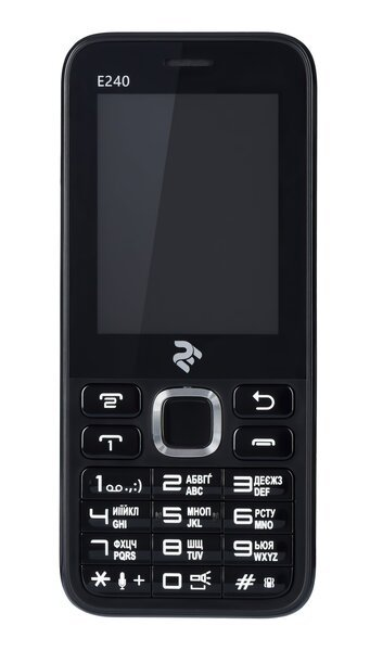 Мобильный телефон 2E E240 DS Black фото 1