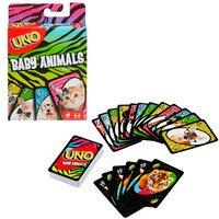 Настольная карточная игра Mattel UNO Малыши-зверьки (FLK78)