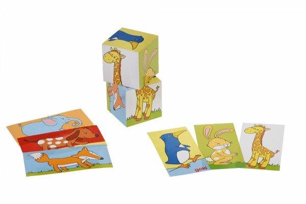 Купить Кубики деревянные goki Животные (57725G)
