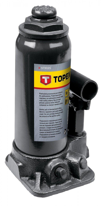 Домкрат гидравлический бутылочный 5т, 215-445мм, TOPEX 97X035 фото 1