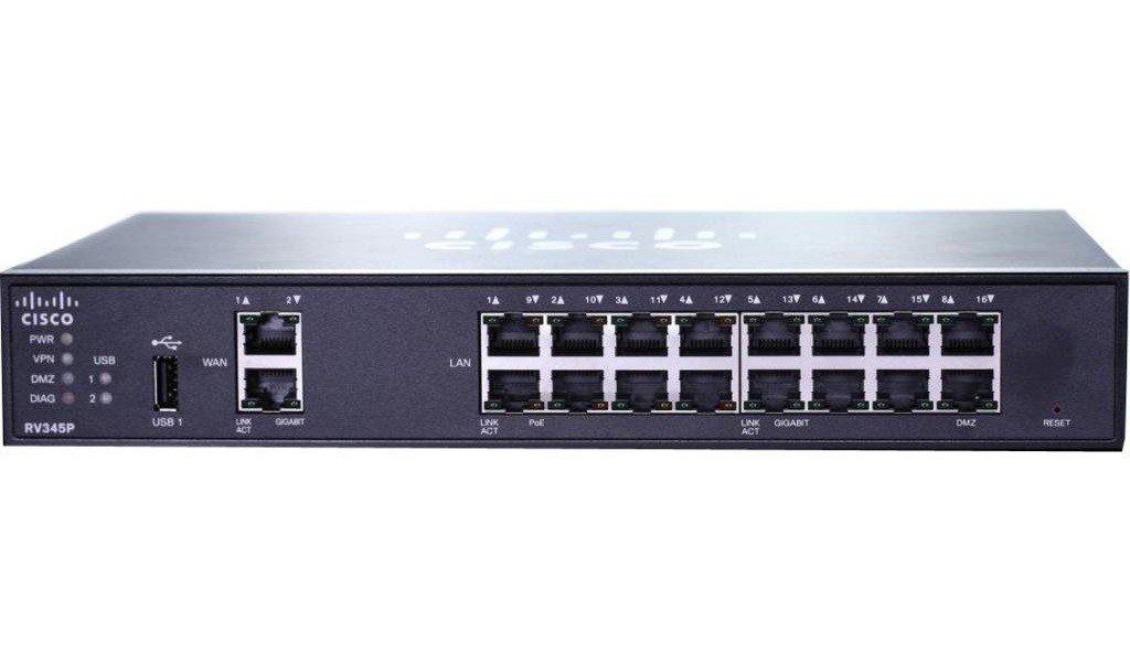≡ VPN-роутер Cisco SB RV345P Dual WAN Gigabit VPN Router