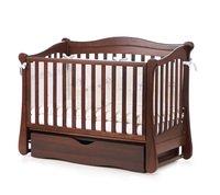 Детская кроватка VERES Соня ЛД-18 орех (маятник с ящиком) (18.1.62.1.03)