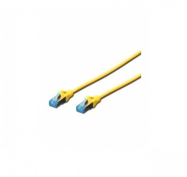 Патч-корд DIGITUS cat.5e, SF-UTP, 0.5м, AWG 26/7, желтого цвета  - купить со скидкой