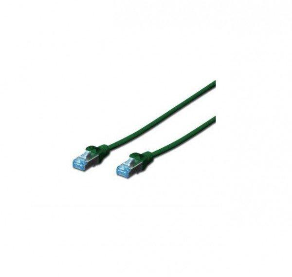 Купить Патч-корд DIGITUS cat.5e, SF-UTP, 0.5м, AWG 26/7, зеленого цвета