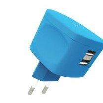Купить ЗУ сетевое МС Kit Fresh Dual USB Charge (USB 3.4 Amp) soft touch Blue