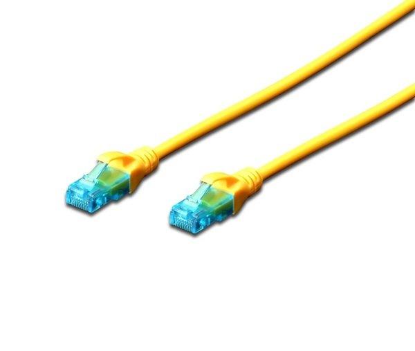 Купить Кабели, Патч-корд DIGITUS CCA CAT 5e UTP, 0.5м, AWG 26/7, PVC, желтый