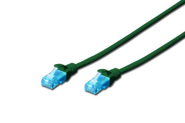 Купить Патч-корд DIGITUS CCA CAT 5e UTP, 0.5м, AWG 26/7, PVC, зеленый