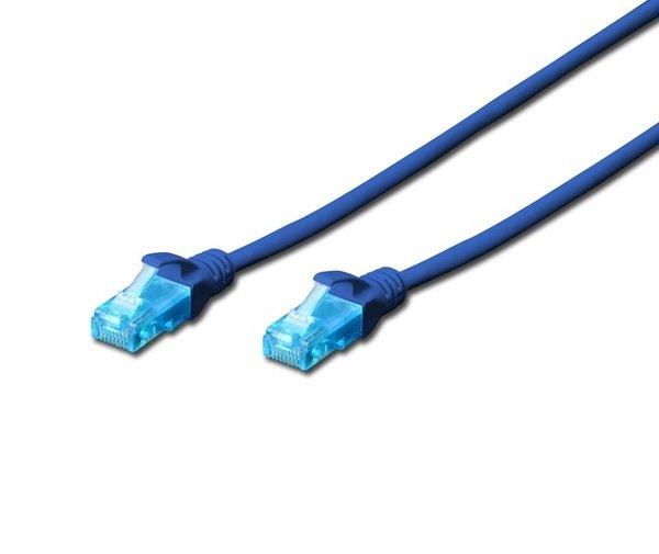 Патч-корд DIGITUS CCA CAT 5e UTP, 1м, AWG 26/7, PVC, синий  - купить со скидкой