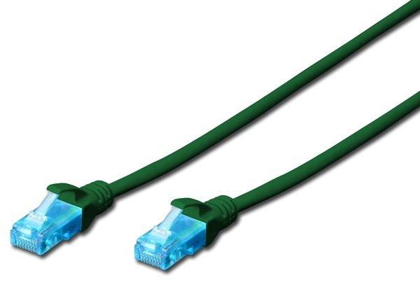 Купить Патч-корд DIGITUS CCA CAT 5e UTP, 2м, AWG 26/7, PVC, зеленый