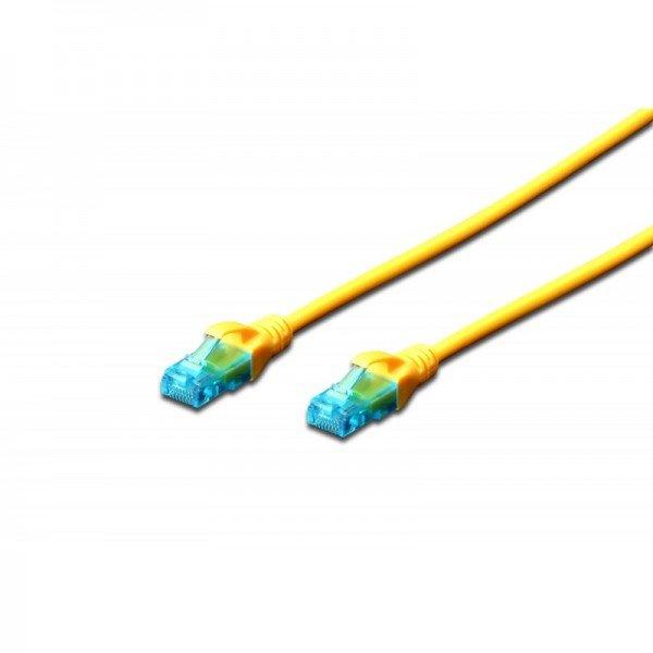 Купить Патч-корд DIGITUS CCA CAT 5e UTP, 3м, AWG 26/7, PVC, желтый