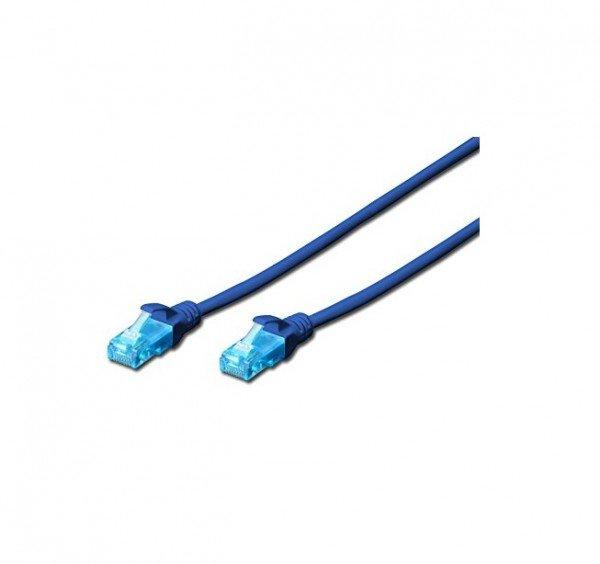 Патч-корд DIGITUS CCA CAT 5e UTP, 3м, AWG 26/7, PVC, синий  - купить со скидкой