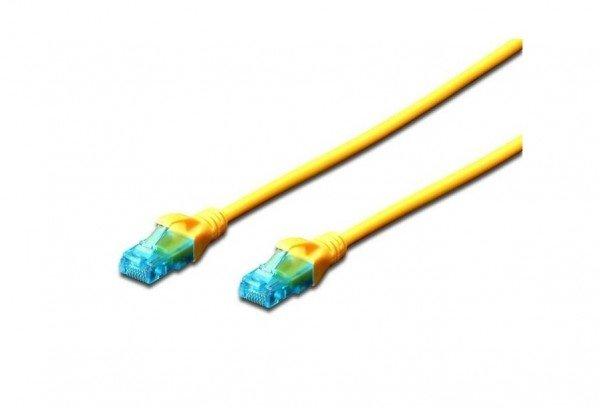 Купить Патч-корд DIGITUS CCA CAT 5e UTP, 5м, AWG 26/7, PVC, желтый
