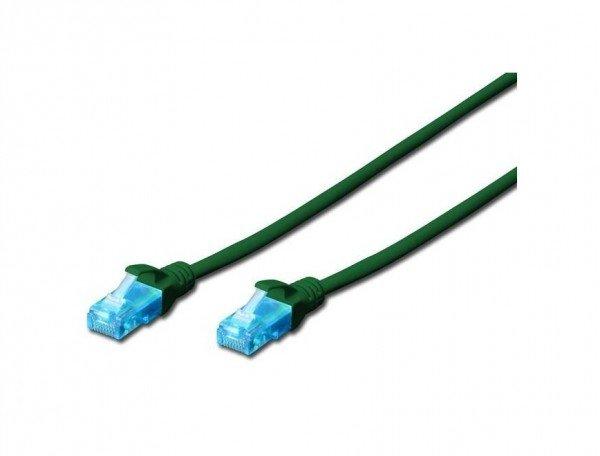 Купить Патч-корд DIGITUS CCA CAT 5e UTP, 5м, AWG 26/7, PVC, зеленый