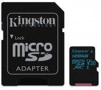 Карта памяти Kingston microSDXC 128GB Class 10 UHS-I U3 Canvas Go R90/W45MB/s + SD-адаптер