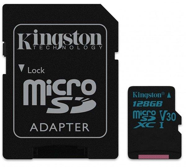 Купить Карта памяти Kingston microSDXC 128GB Class 10 UHS-I U3 Canvas Go R90/W45MB/s + SD-адаптер
