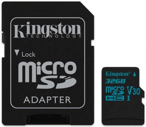 Купить Карты памяти MicroSD, Карта памяти Kingston microSDHC 32GB Class 10 UHS-I U3 R90/W45MB/s + SD-адаптер