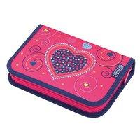 Пенал с наполнением 19 предметов Herlitz Hearts Pink(50014217H)