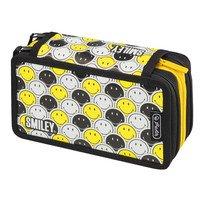 Пенал пустой Herlitz Triple Smileyworld Black & Yellow(50015436)