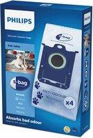 Сменный синтетический мешок-пылесборник Anti-Odeur S-bag Philips FC8023/04