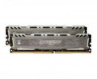 Память для ПК CRUCIAL Ballistix Sport DDR4 2666 16GB (8GBx2) Kit (BLS2C8G4D26BFSBK)