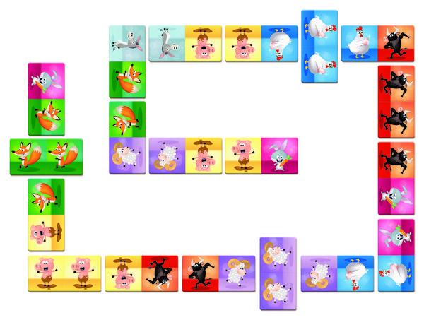 Купить Игра мемо Janod Домино Животные (J02737)
