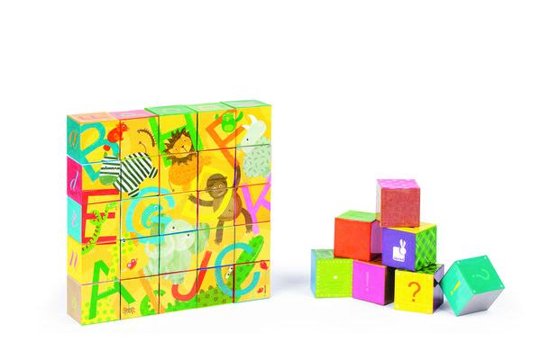Купить Кубики картонные Janod Алфавит (J02993)