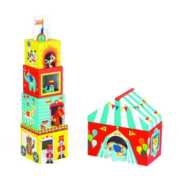 Купить Кубики картонные Janod Цирк (J02800)