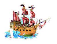 Пазл-напольный Janod Корабль пиратов (J02819)