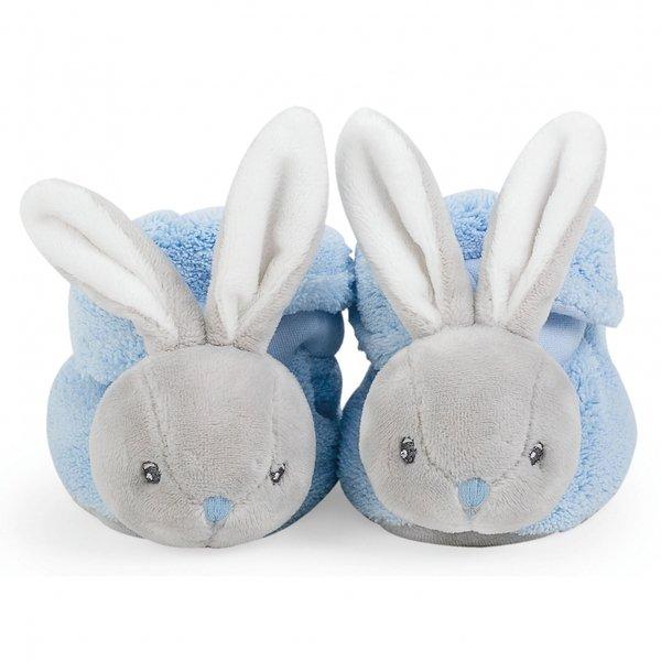 Купить Пинетки Kaloo Plume Кролик голубой 0-3 мес. (K969572)