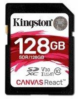 Карта памяти KINGSTON SDXC 128GB Class 10 UHS-I U3 R100/W80 MB/s (SDR/128GB)