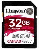 Карта памяти KINGSTON SDHC 32GB Class 10 UHS-I U3 R100/W80 MB/s (SDR/32GB)