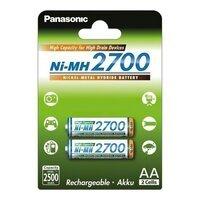 Аккумулятор Panasonic High Capacity AA 2700 mAh 2 шт. (BK-3HGAE/2BE)
