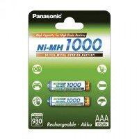 Аккумулятор Panasonic High Capacity AAA 1000 mAh 2 шт. (BK-4HGAE/2BE)