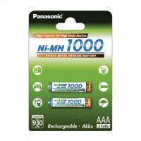 Аккумулятор Panasonic High Capacity AAA 1000 mAh 2 шт. (BK-4HGAE/2BE)