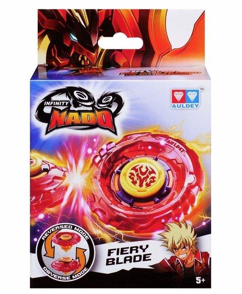Купить Игровые наборы, Волчок с пусковым устройством Auldey Infinity Nado Пластик Fiery Blade (YW624102)