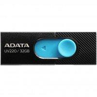 Накопичувач USB 2.0 ADATA UV220 32GB Black/Blue (AUV220-32G-RBKBL)